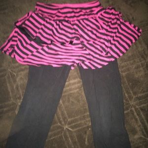 Bottoms - Kids Leggings with Skirt Attached
